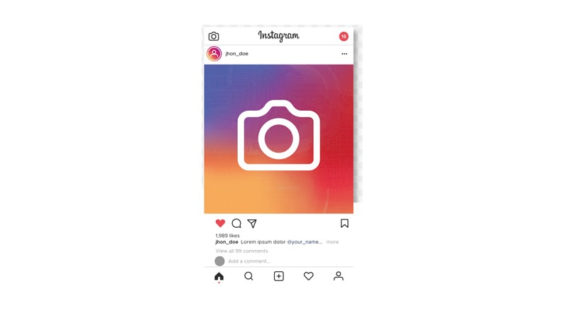 Account instagram